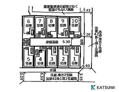 玉津町新方 全10区画 区画図 現地ご案内&近隣モデルハウスご見学も即日可能です(予約制)WEBでのご予約は24時間受付中です。