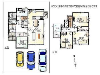 富山市山室字東田割 左棟 新築一戸建て
