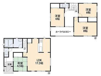 田原市浦町第8 新築6号棟 ホームパーティーを開きたくなるゆったりリビングの家。