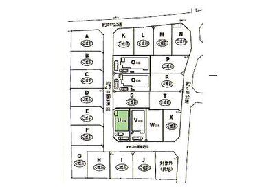 新築 川越市寺尾第6 U号棟 区画図1カースペース2台分ございます。