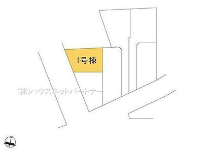 西川口15分の中青木第9期 1号棟 区画図