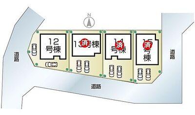 姫路市下手野第8 III期 全4邸 12号棟 姫路市下手野第8III期全4邸・区画図