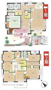 茶山台3丁 中古戸建 【間取り図】大家族でも安心の6LDK。全居室収納+納戸の収納力があるお住まいです♪