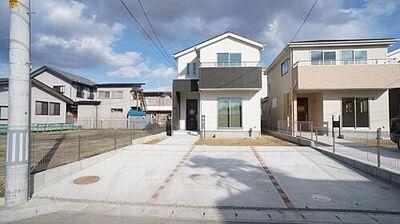 角田市角田5期 全7棟 1号棟 現地外観写真 閑静な住宅地で叶える穏やかな新生活。