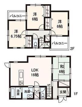 堺市南区片蔵 中古戸建 2008年2月築!南側が道路に面する4LDKのお住まいです♪全居室6帖以上の広さがございます。
