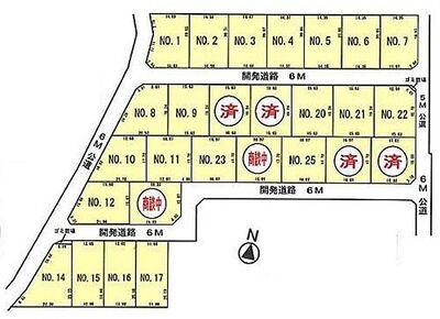 南桜井駅徒歩18分 新築一戸建 東中野 3280万円 4LDK 区画図
