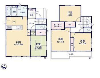 藤枝市青木 新築全7棟 D号棟 リビングに隣接した和室のある4LDK。2階にはWICもあるので収納スペースも豊富です!