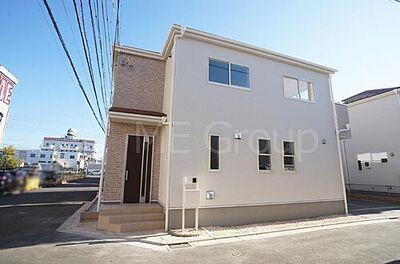 川越市大仙波 新築一戸建て 全7棟 シンプルなラインで構成された美しい外観デザイン!