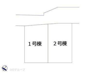 川口市新堀 新築一戸建て 全2棟 区画図