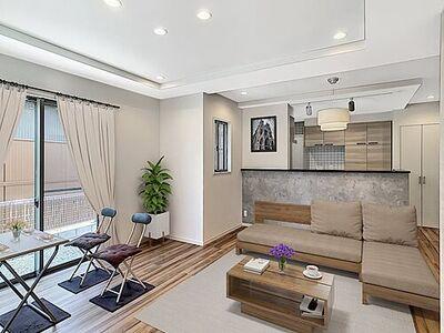 浜松市東区上石田町 家具はイメージパースにつき、実際にはありません。