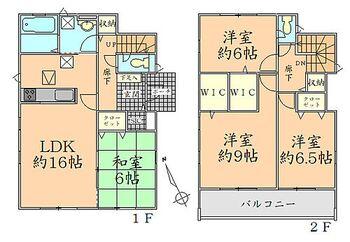 グラファーレ寒河江市船橋町 全4棟 3号棟 間取り 全室2面採光で明るく通風良好な間取り