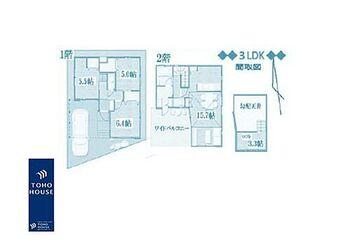 東玉川1丁目・戸建 3LDK、土地面積79.53m2、建物面積78.29m2