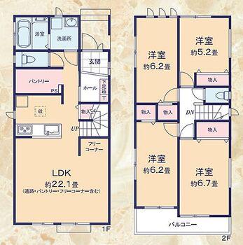 藤枝市田沼3期 新築戸建て 3号棟 3号棟平面図
