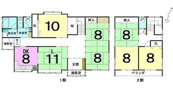 大字水木字浅田 中古戸建 設備1年保証付き:一定設備で当社規定による