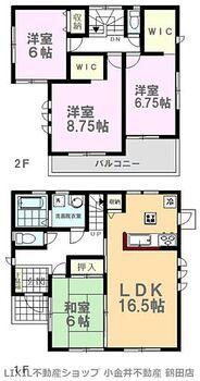 LiveleGarden.S下野小金井第4 3号棟 間取り図です。陽当りの良さなど現地にてご確認出来ます。