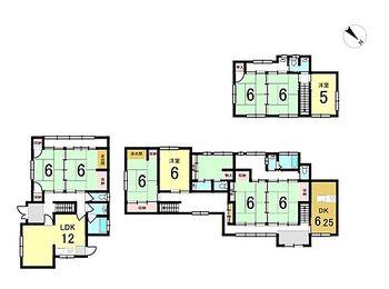 城崎町上山 中古戸建 2棟がつながっている為、2世帯住宅に最適!寮や事務所としても活用できます!
