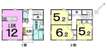 大字西豊田2丁目 新築戸建 子育て世帯におすすめの3LDK新築です!通学のしやすさ・駐車スペース・収納豊富の3つを軸に設計しています。