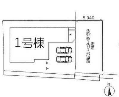 福岡市東区和白東2丁目第4  1号棟(全1棟) 区画図です。