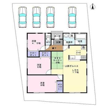 和歌山市塩屋第1期 1号棟 新築戸建 おすすめの3LDK+グルニエ付き