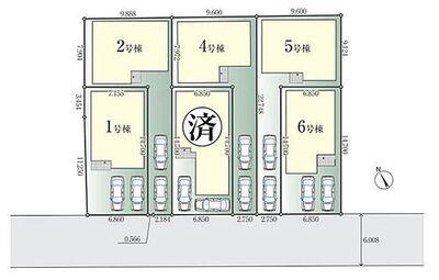 相模原市中央区矢部1期 戸建 全6棟6号棟 区画図