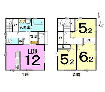 大字松原東5丁目 新築戸建 3LDK新築住宅!駐車場は3台可能!令和3年1月に完成!住まい給付金対象物件(最大50万)!