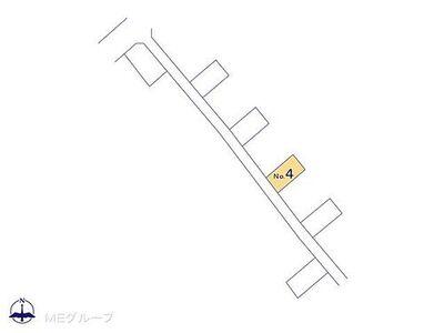 川越市中台南2丁目 新築一戸建て 全6棟 区画図