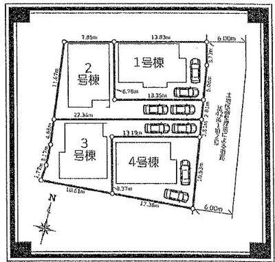 川口市榛松 2号棟 全棟駐車2台可。