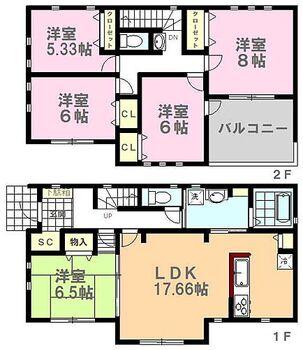 那須塩原市下永田7丁目20-P1 11号棟 間取りです。