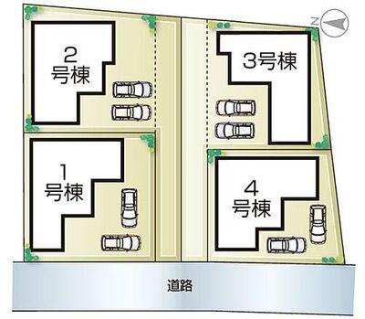 小野本町3期 全4邸 4号棟 小野本町3期・全4邸・区画図