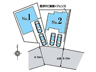 川口市新井宿 区画図