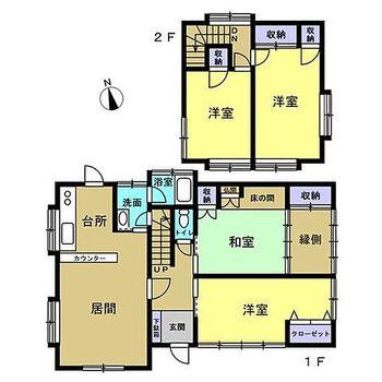 球磨郡山江村大字山田丁 戸建て 間取りは1階2部屋と2階2部屋の4LDK。ファミリーにもオススメのおうちです。