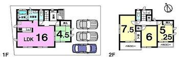 新築戸建 ハーモニータウンうるま市与那城屋慶名 全13区画 間取り図