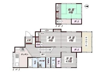伊豆の国市古奈中古住宅 間取図