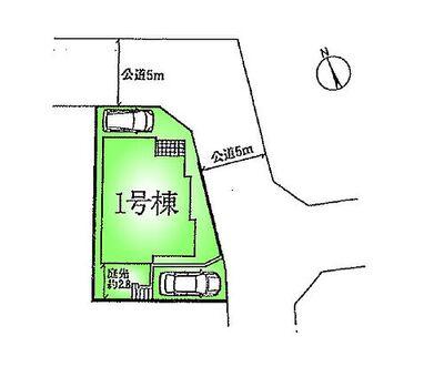 町田市相原町 戸建 1号棟 区画図