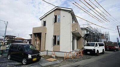 若林区上飯田4期 全5棟 1号棟 外観写真 完成間近。 当日・平日のご案内も可能です。お気軽にお問い合わせくださいませ。