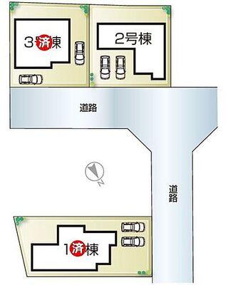 姫路加納原田14期 全3邸 2号棟 姫路加納原田14期・全3邸・区画図
