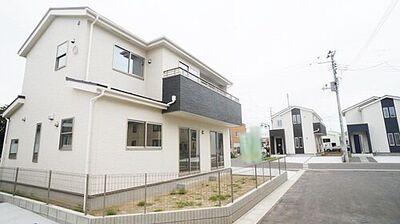 角田市角田4期 全8棟 1号棟 外観写真 完成済。内覧可能です