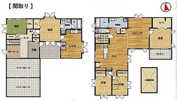 豊田市浄水町原山 1階は親世帯、2階は若夫婦世帯用です。