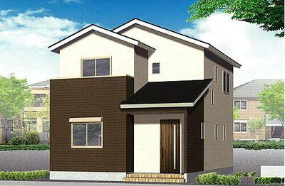新築戸建 聖徳町6区画 外観パース
