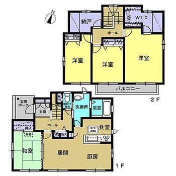 宮城郡松島町松島字間坂 戸建て 【リフォーム済】1部屋1部屋にゆとりのある4SLDKのおうちです。納戸やウォークインクローゼットもあるので、収納には困らないですね。
