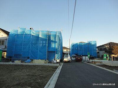 東松山市松山2丁目1期1号棟 建築中が見れます