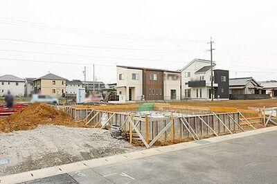 グラファーレ 中区和合町 第4期 新築全8棟 1号棟 \工事進捗状況/2021.2.12基礎工事の様子撮影。