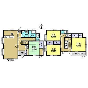 東金市日吉台7丁目 戸建て リフォーム後間取です。今回のリフォームにて2階の和室を洋室に変更しました。
