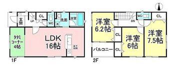クレイドルガーデン吉田第6  1号棟 3LDK。建物延べ面積90.72m2(27.44坪) 。全居室南向き!ゆっくりくつろげるリビングとタタミコーナー!キッチンから洗面室まで移動がスムースで家事がはかどります!インナーバルコニー!