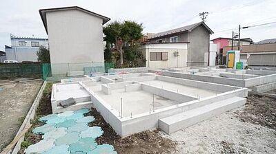 角田市角田5期 全7棟 5号棟 現地外観写真 閑静な住宅地で叶える穏やかな新生活。