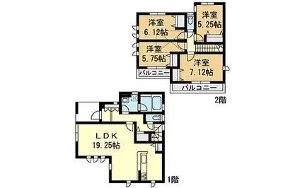 「鶴ケ峰」駅徒歩8分 新築一戸建て(14) 全16区画の分譲 間取り:14号棟間取図
