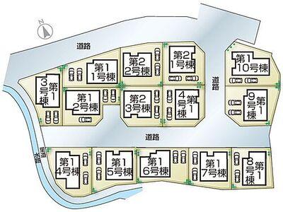 姫路市花田町小川第2 全4邸 2号棟 姫路市花田町小川第2・全4邸・区画図