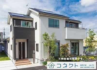 神戸市西区玉津町新方 新築戸建 10区画 同社施工写真です。