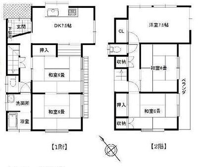 狭山市富士見1丁目 全居室6帖以上のゆとりある間取り。