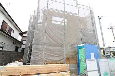 中区萩丘 第1期  新築全1棟 1号棟 \工事進捗状況/2021.3.25外壁工事の様子撮影。